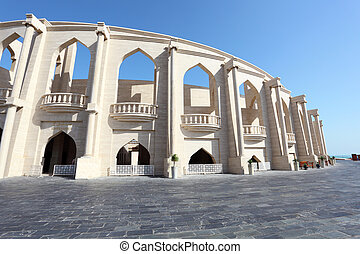 Amphitheater in Katara Cultural Village. Doha, Qatar, Middle...