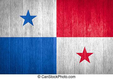Panamá, bandera, madera, Plano de fondo