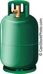A gas cylinder