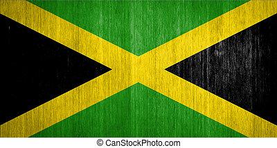 jamaica, bandera, madera, Plano de fondo