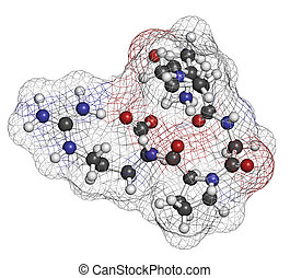 Enterostatin signaling peptide molecule. Reduces food and...