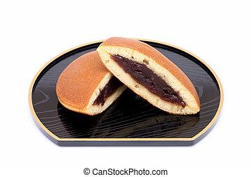 Dorayaki, Japanese confectionery on white background
