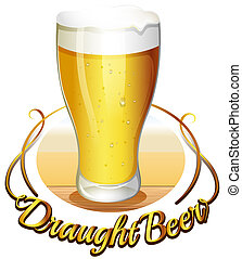 Draught beer label - Illustration of the draught beer label...