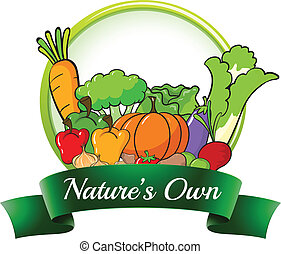 A nature's own label - Illustration of a nature's own label...