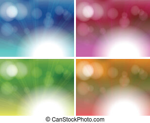 Four unique background templates - Illustration of the four...