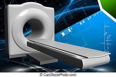 Medical scanner - Digital illustration of Medical scanner in...