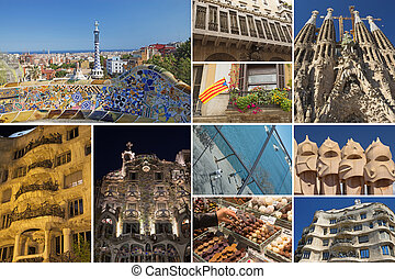 Travel to Barcelona - Barcelona famous landmarks picture...