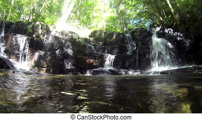 Waterfall in Wide Angle - A wide angle view of a waterfall...