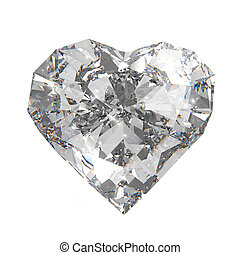 diamond heart shape - 3d diamond heart shape