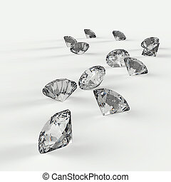 diamantes, composición,  3D