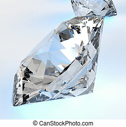 Diamonds isolated on white 3d model composition concept