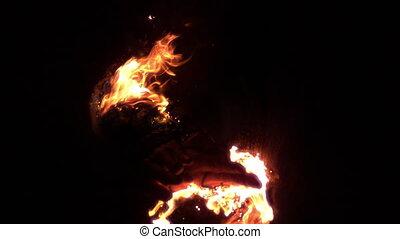 Skilled fire dancer