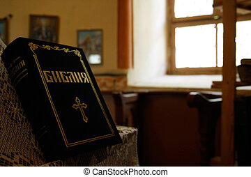 Holy bible on altar