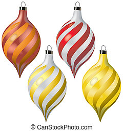 Christmas Baubles - Colored Illustration, Vector