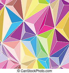 Crystals Seamless Pattern with Different colors