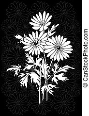 Abstract floral branch - Illustration of abstract flowers...