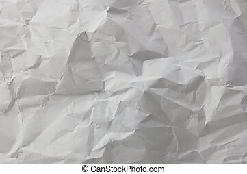 wrinkled and crushed paper