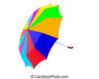 Multi-coloured umbrella - High resolution image...