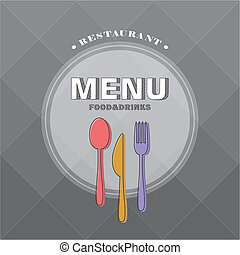 restaurant menu - vector restaurant menu brochure cover...