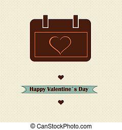 Retro love concept valentines day design