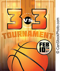 Basketball Tournament Poster - A basketball tournament flyer...