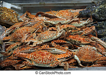 Crabs that come out from oven.