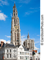 Antwerp Cathedral - Cathedral of Our Lady in Anwerp, Belgium...