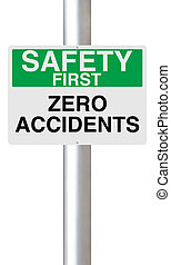 Zero Accidents - A sign highlighting the importance of...