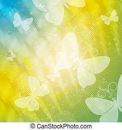 Summer bright - Abstract illustration with flitting...