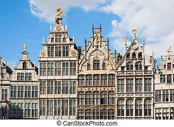 Antwerp Guild houses - Guildhouses at Grote Markt in...