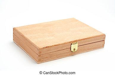 madeira, caixa, isolado