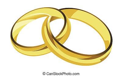 golden rings illustration