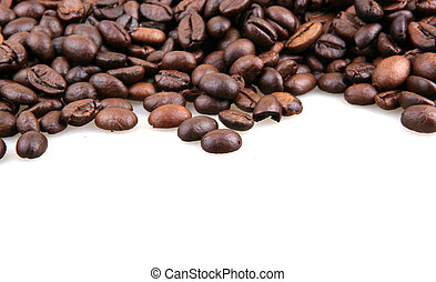 Coffee Beans Isolated On White
