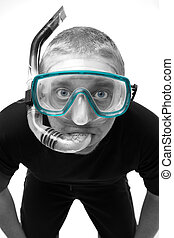Male in Swimming Mask