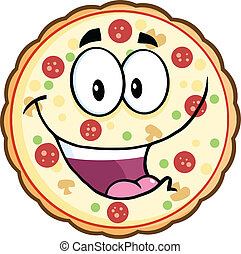 Funny Pizza Character
