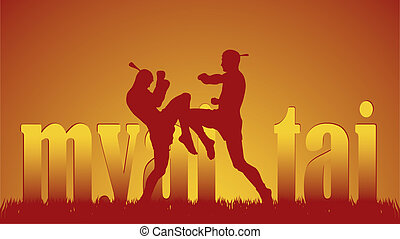 illustration with the image of east martial artists