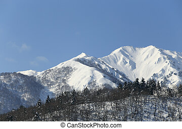 snow covered mountain in Takayama japan