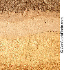 soil texture - close up of  textture  soil .