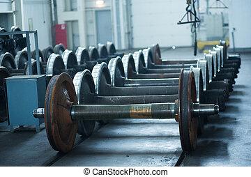 repair vagon - wheels designed for railroad cars. repair...