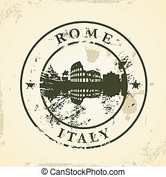 stamp with Rome, Italy