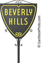 Beverly Hills sign - Vector illustration of Beverly Hills...