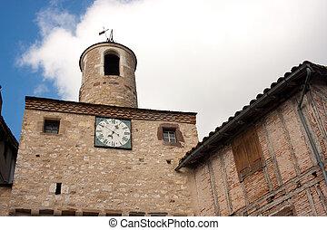 Architecture of Cordes-sur-Ciel in France