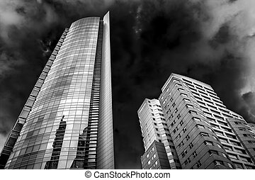 Building and Sky - Couple of buildings in high contrast...