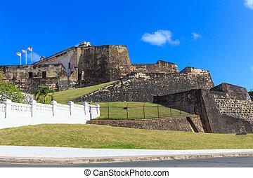 San Juan, Fort San Felipe del Morro, Puerto Rico - San Juan,...