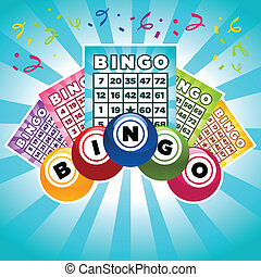 Bingo Illustration - Colorful illustration of bingo cards...