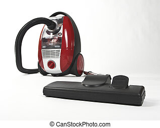 Vacuum Cleaner - Isolated Stainless Steel Vacuum Cleaner...