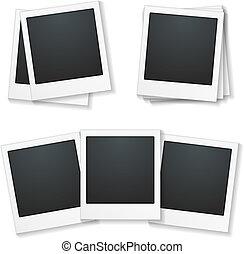 Photo Frames - Set of photo frames on white background,...