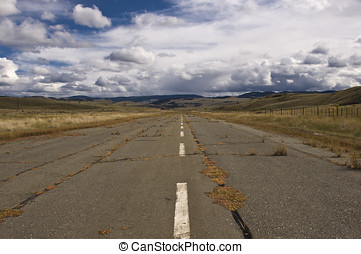 Landing strip in the hills - An abandoned landing strip in...