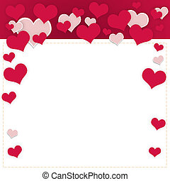 Abstract frame of hearts. The concept of Valentine's Day