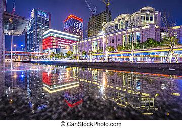 Taipei, Taiwan Cityscape - Taipei, Taiwan cityscape at Xinyi...